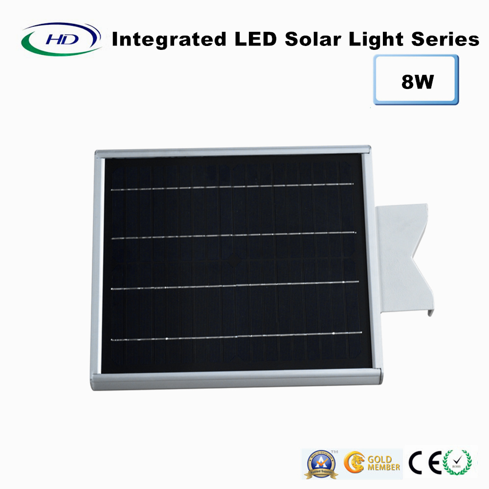 8W PIR Sensor Integrated LED Solar Garden Light pictures & photos