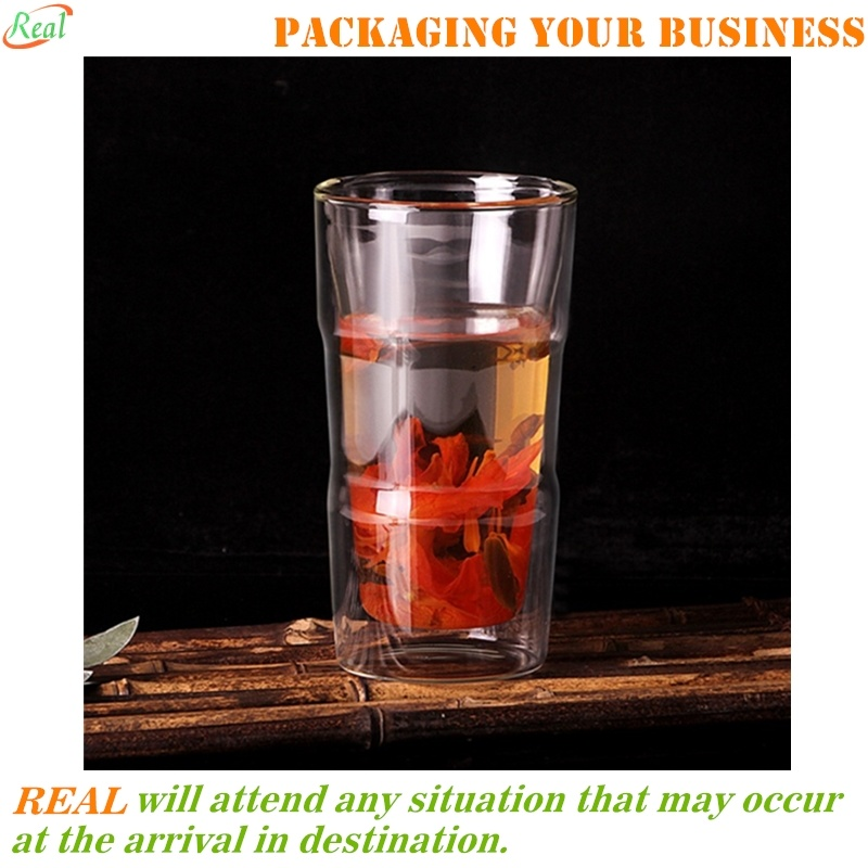 [Hot Item] Double Wall Insulated Drinking Glasses, Glassware Beverage Set,  Home Kitchen Entertainment Ice Tea Cups for Water, Juice, Milk, Beer, ...
