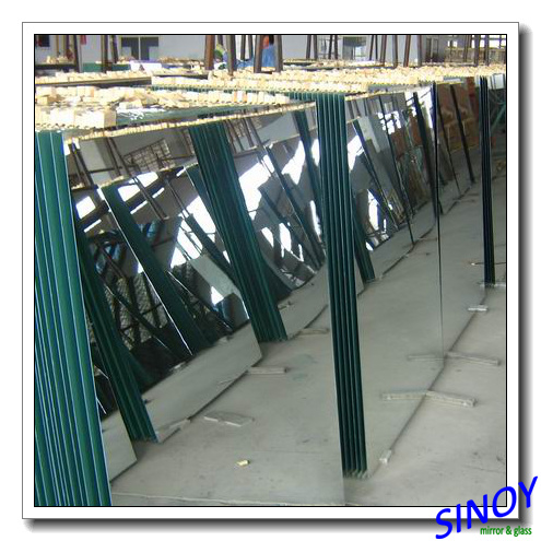 2mm - 6mm Float Glass Double Coated Clear Aluminum Mirror Glass, Max Size 2440 X 3660mm