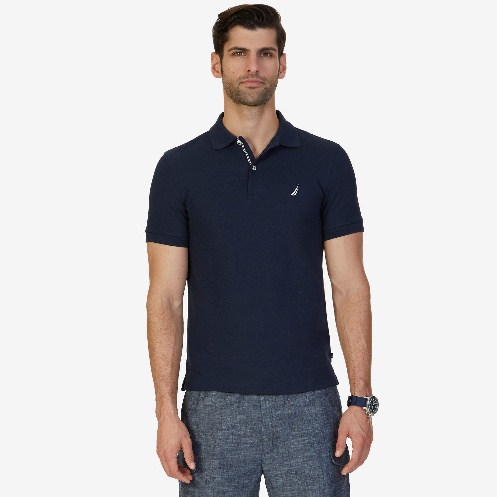 China Custom Slim Fit Mens Polo Shirts With Your Own Designs Photos