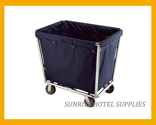 Room Service Cleaning Maid Utility Linen Housekeeping Trolley pictures & photos