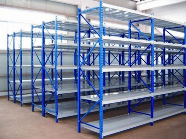 Longspan Q235 Steel Warehouse Storage Medium Duty Rack