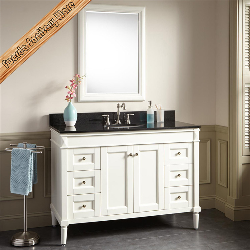 Fed-303 Espresso Solid Wood Bathroom Vanities Modern Bathroom Cabinets pictures & photos