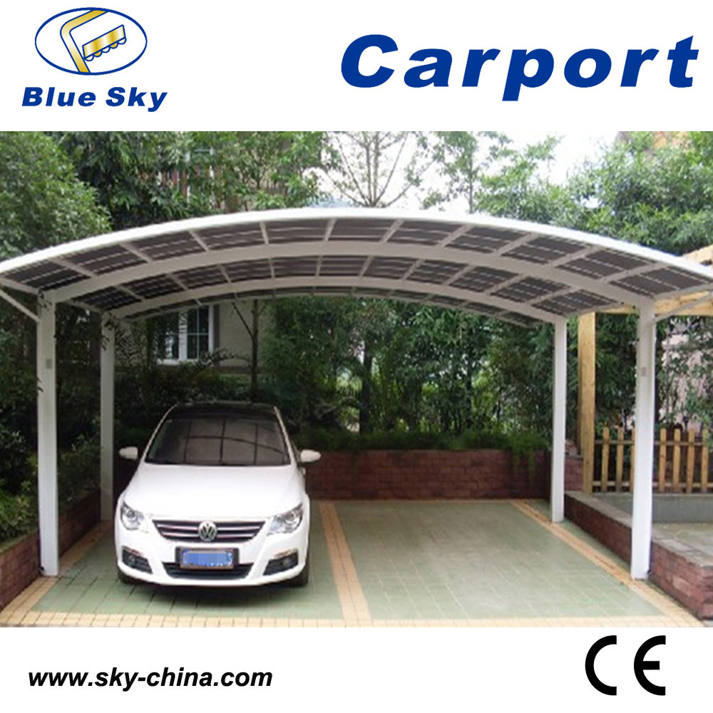 China Popular Design Double Car Parking Metal Carport With Pc Roof China Awning And Carport Price