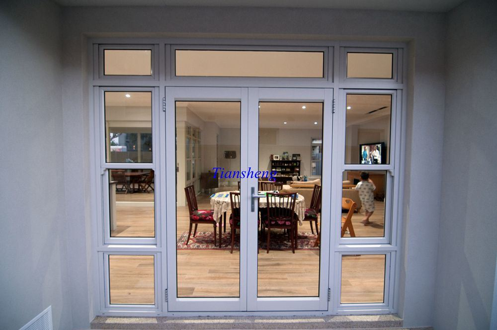 China Hot Sale Ventilated Modern Commercial Glass Entrance Door
