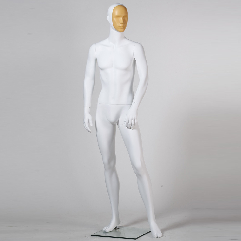 European FRP Male Mannequin with Face Changeable