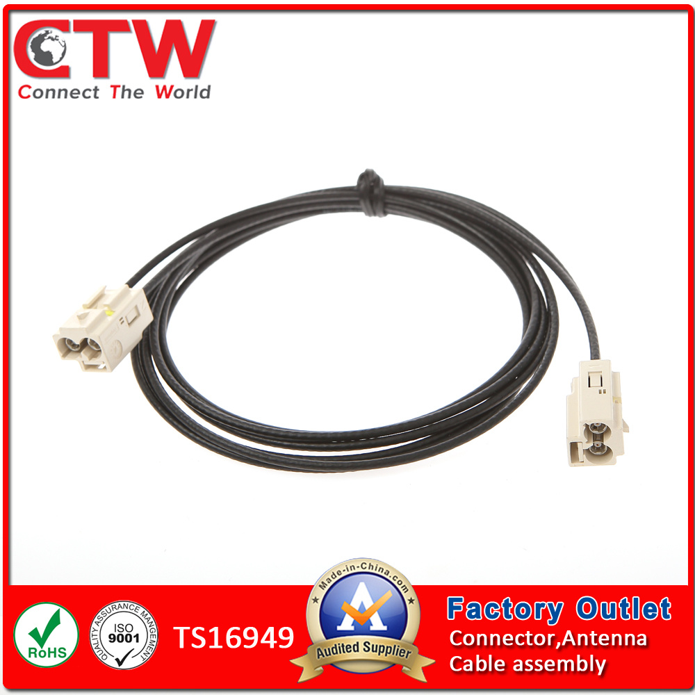 China Double Fakra Wire Harness Wiring Manufacturing Process
