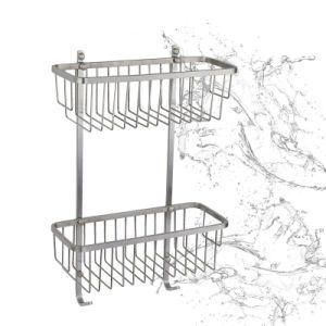 Wall Mounted Bathroom Accessories, Double Towel Bars Shower Basket