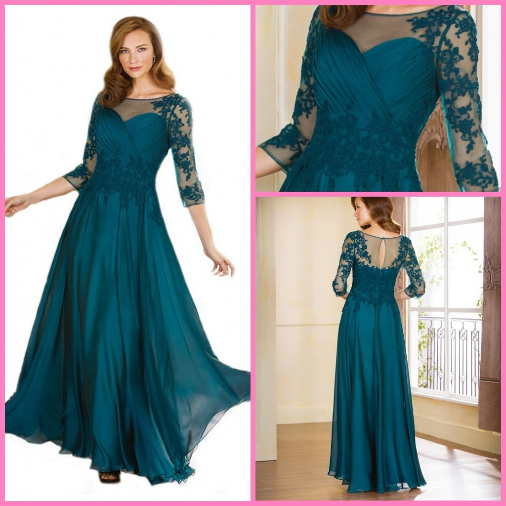 China A-Line Evening Prom Party Gowns Lace Chiffon Bridesmaid ...