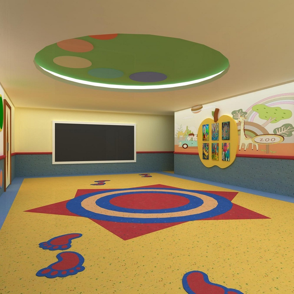China Pvc Vinyl Floor Coil For Kids Room Membrane