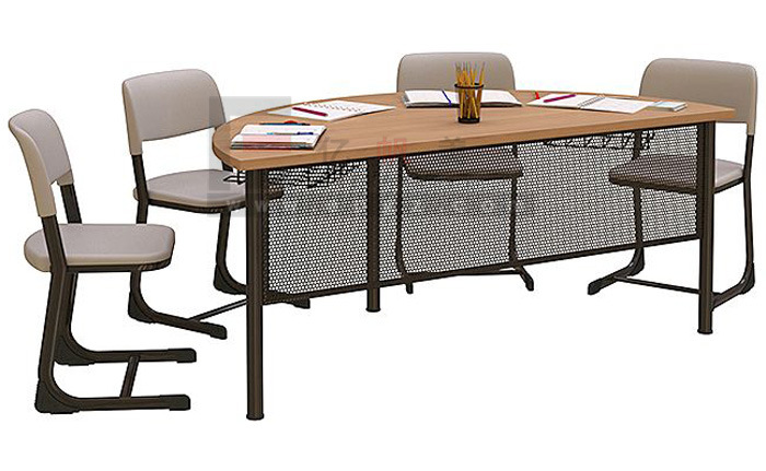 Hot Item School Library Furniture Reading Table And Chairs