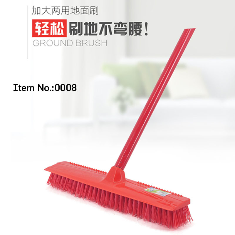 Handle Plastic Hard Bristle Floor Brush