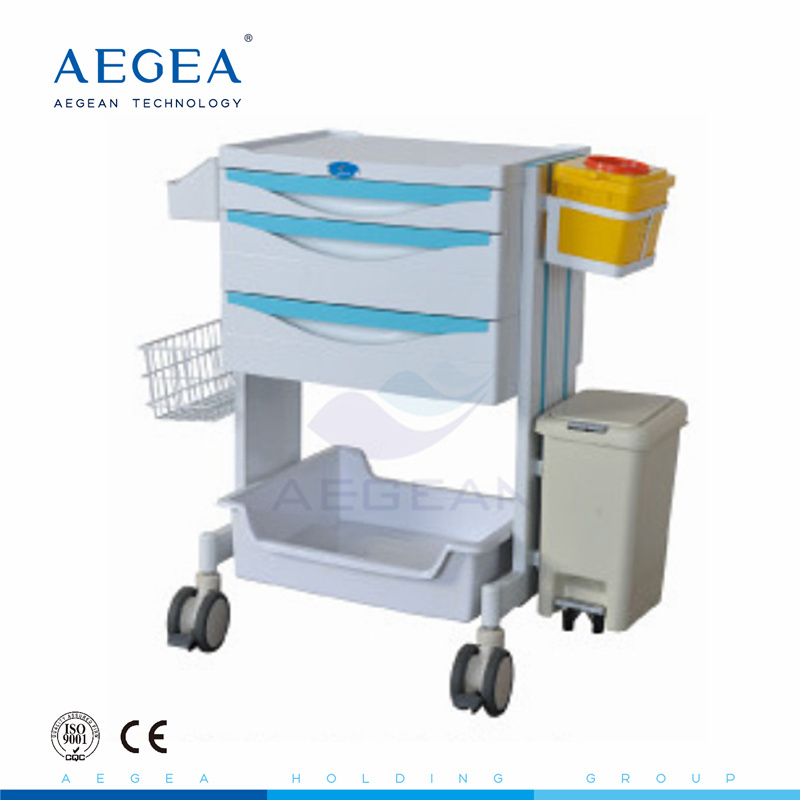 [Hot Item] AG-Mt014 Cheap ABS Hospital Trolley Manufacturer Used Medication  Carts