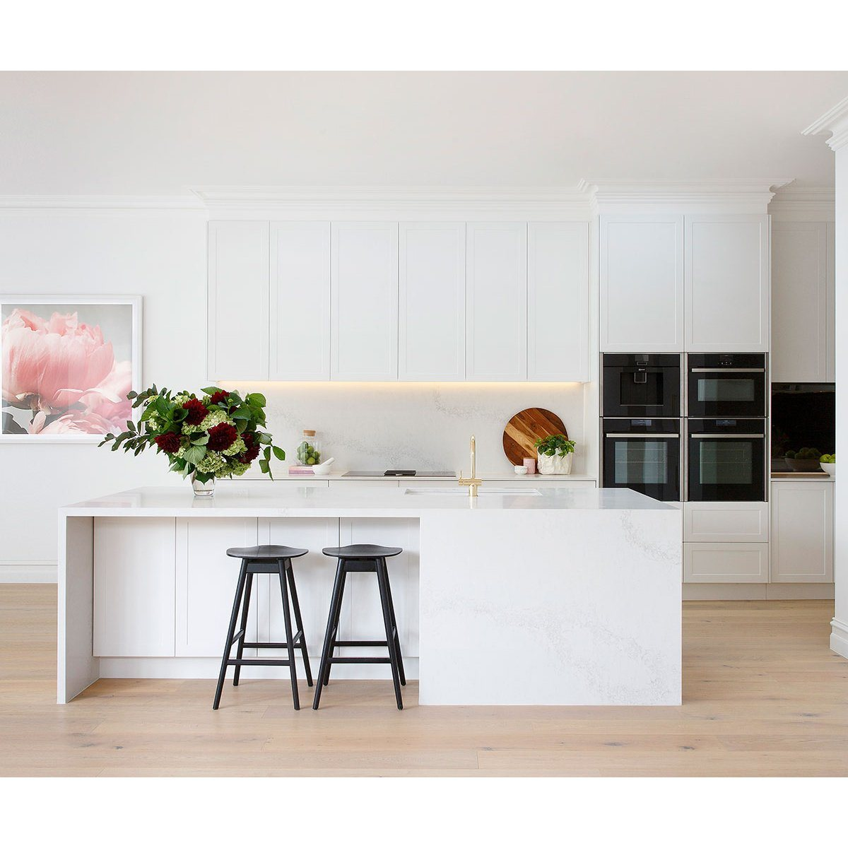 High End White Kitchen: China Wholesale White MDF Ready Made Italian High End PVC