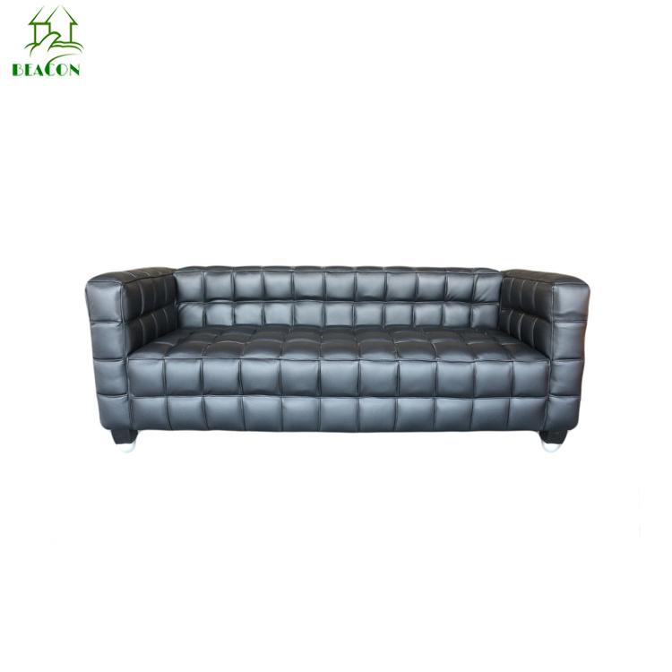 [Hot Item] Modern Living Room Classic Furniture Home Sectional Sofa Set  Italian Leather Button-Tufted Josef Hoffmann Kubus Sofa