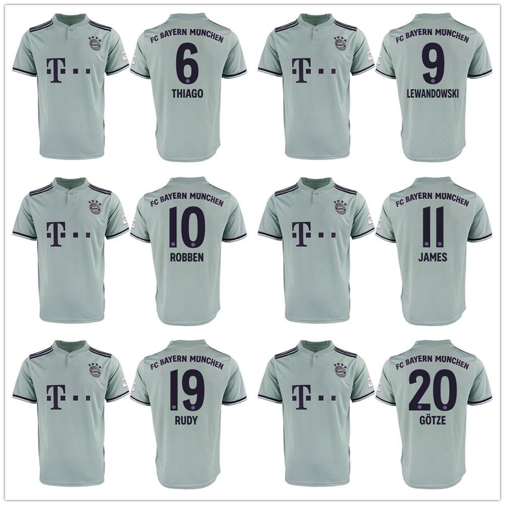 watch c45d1 d3b4e [Hot Item] Top Thailand Bayern Munich James Rodriguez Soccer Jersey  Football Shirt