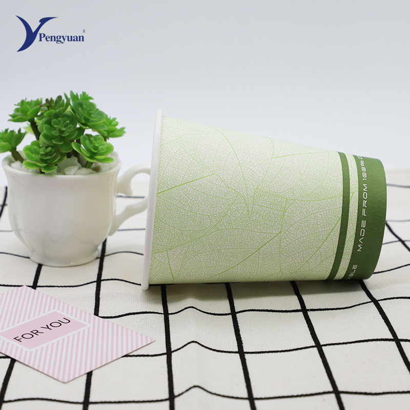 China Single Wall Paper Cup with Lid, Coffee Cup, Factory