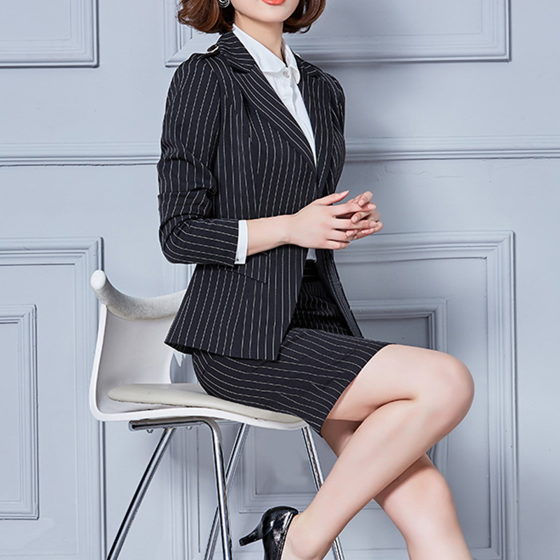China New Formal Office Woman Suits Ladies Designer Three Pieces Skirt Suits China Women Suits And Suit Price