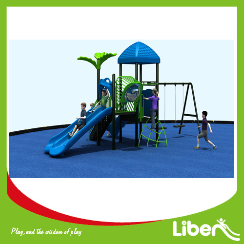 China Outdoor Play Structure Playground Equipment With Slide Le Zi 011 Entertainment
