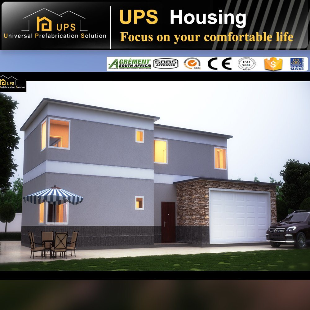 Durable Prefab Residential House with Luxury Decorations