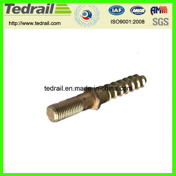 China Rail Sleeper Screw Spike with Two Ends - China Railway