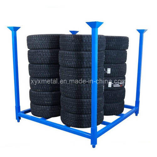 Folding 60X60 Inch Metal PCR Tire Tyre Collapsible Stacking Storage Rack