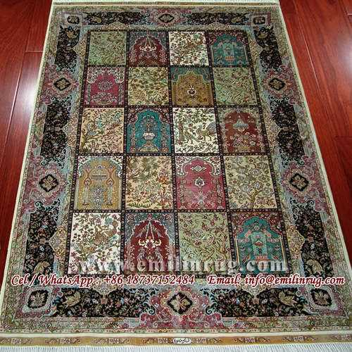 Hand Knotted 100 Silk Carpet Handmade