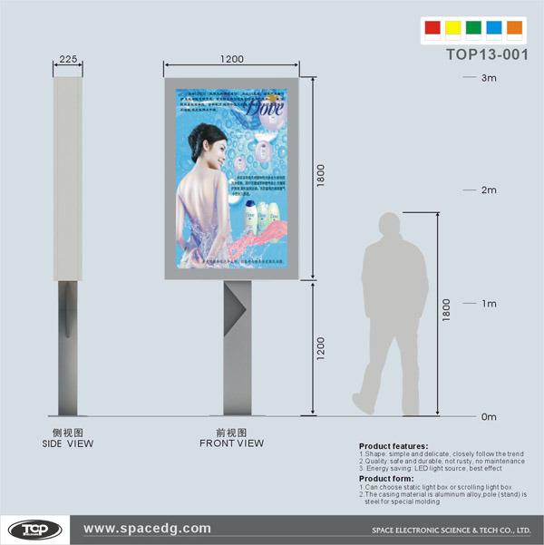 standard science poster size