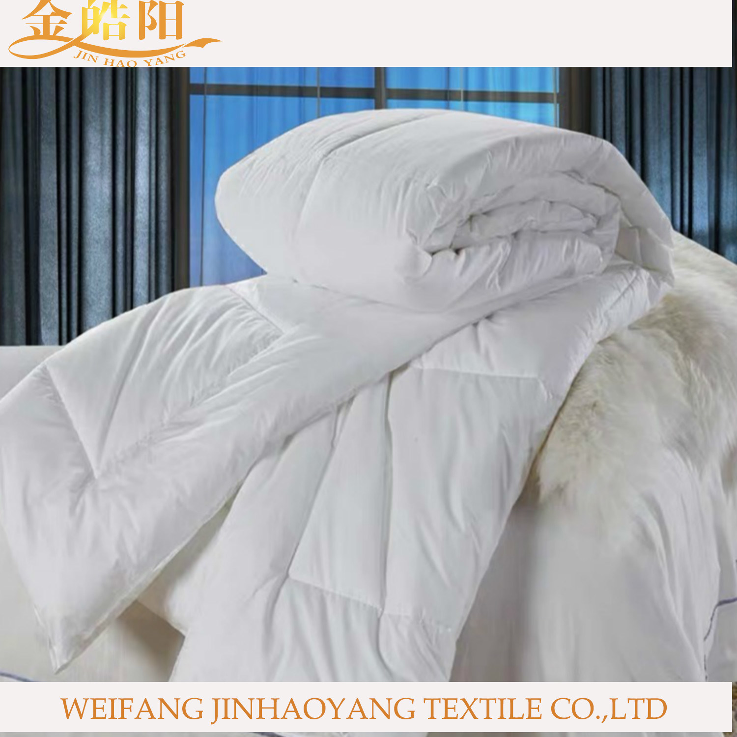 China Home Hotel Linen White Down Comforter Microfiber Quilt Polyester Duvet Supply China Bedding Set And Hotel Linen Price