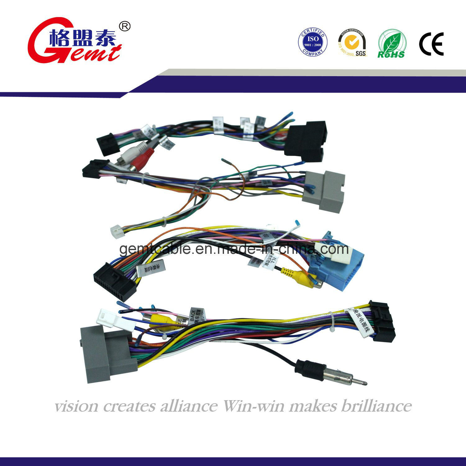 China Compass Power Wire Harness Controlling Car Using Connector Electric Auto Cable Battery
