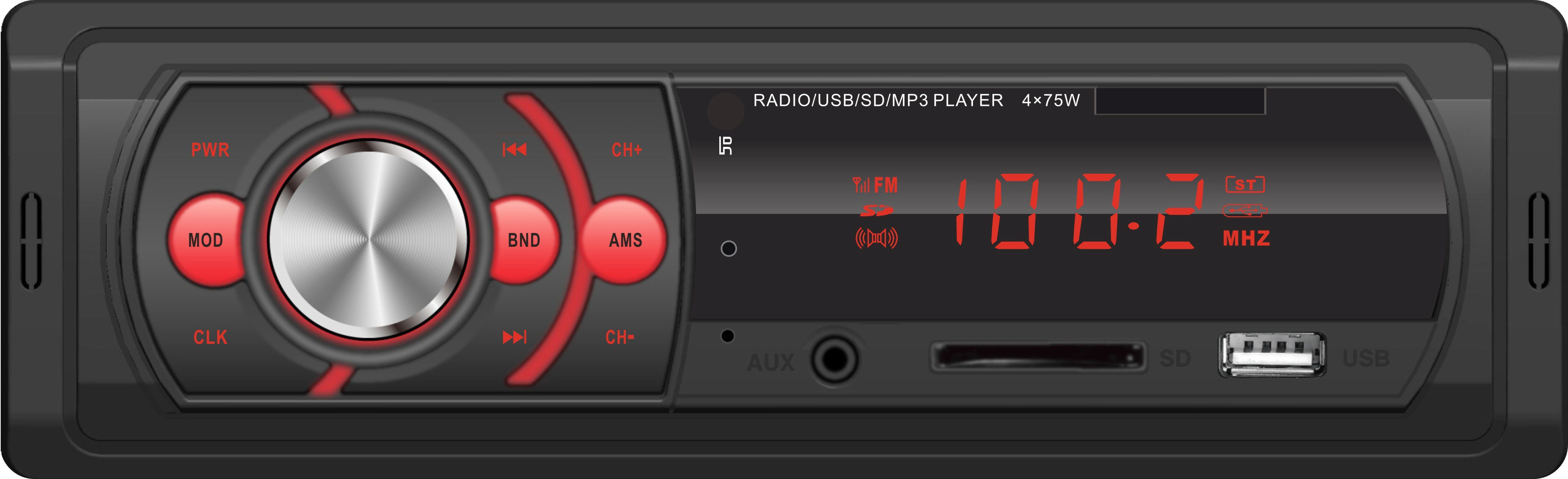 Cheap Price LED Display 1 DIN Car Radio MP3 Player with Bluetooth