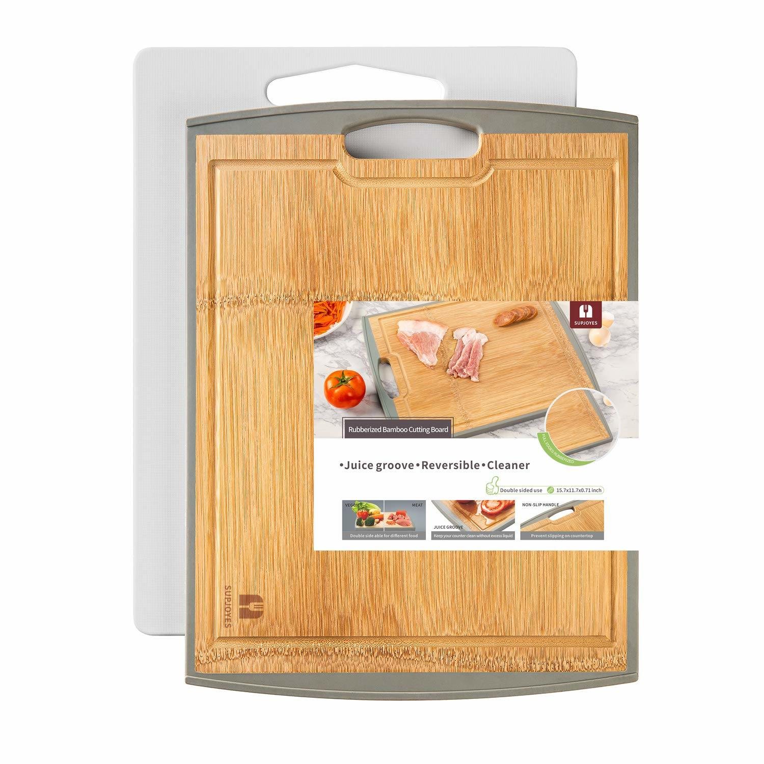 China Cutting Boards For Kitchen Bamboo Wood Butcher Block For Meat Plastic Chopping Board Large Cutting Board Set Of 2 Piece Non Slip With Handle China Chopping Board And Antibacterial Price