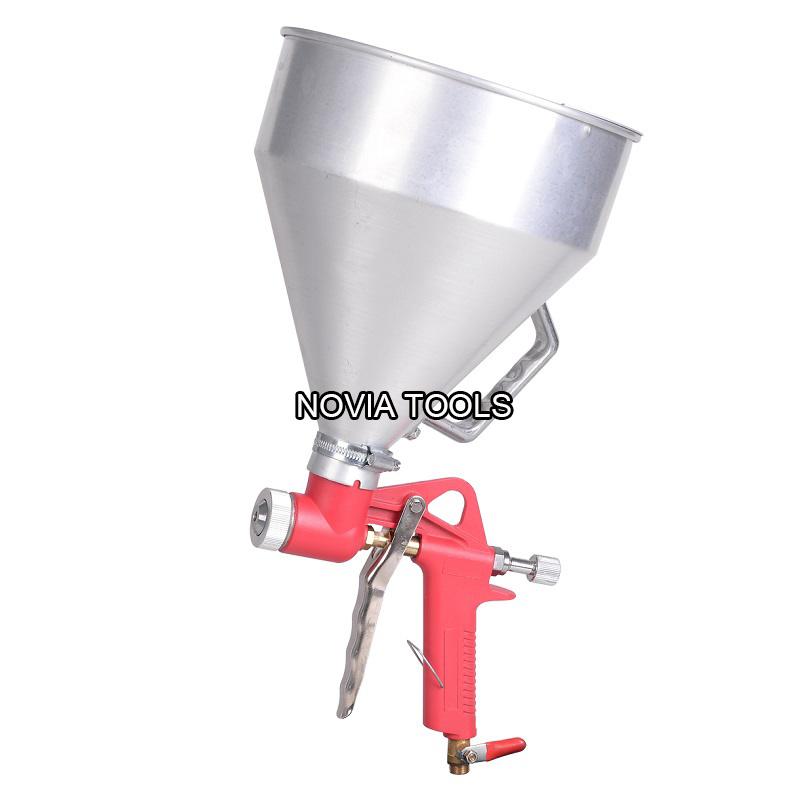 Good Texture Paint Spray Gun Part - 12: China 1.45 Gallon Ceiling Wall Texture Paint Drywall Painting Sprayer Alum.  Cup Air Hopper Spray Gun B001 - China Drywall Ceiling Tool, High Pressure  Gun