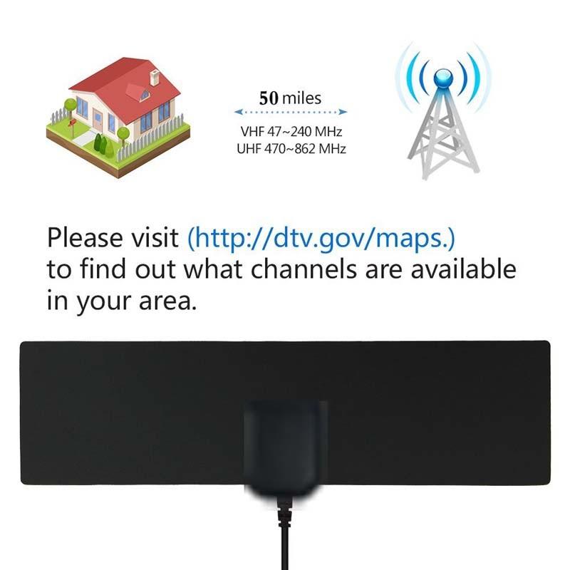 China Viewtv Flat HDTV Digital Indoor TV Antenna HD VHF UHF Signal on