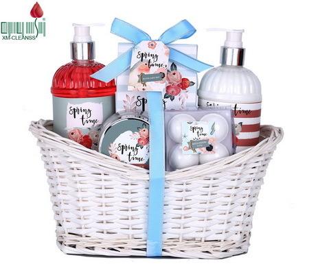 Body Spa Bathroom Baskets Kit Natural