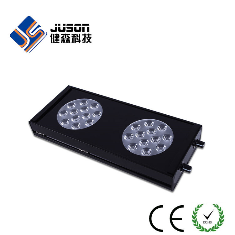 Black or Silver Aluminum 72W 40cm Marine Aquarium LED