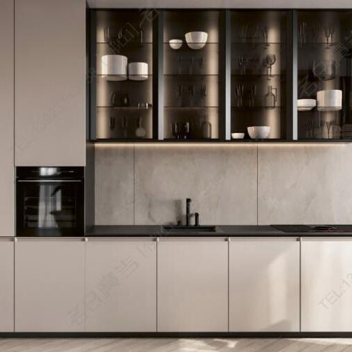 China Foshan Company New Product Modern, Glass Kitchen Cupboard Doors Uk