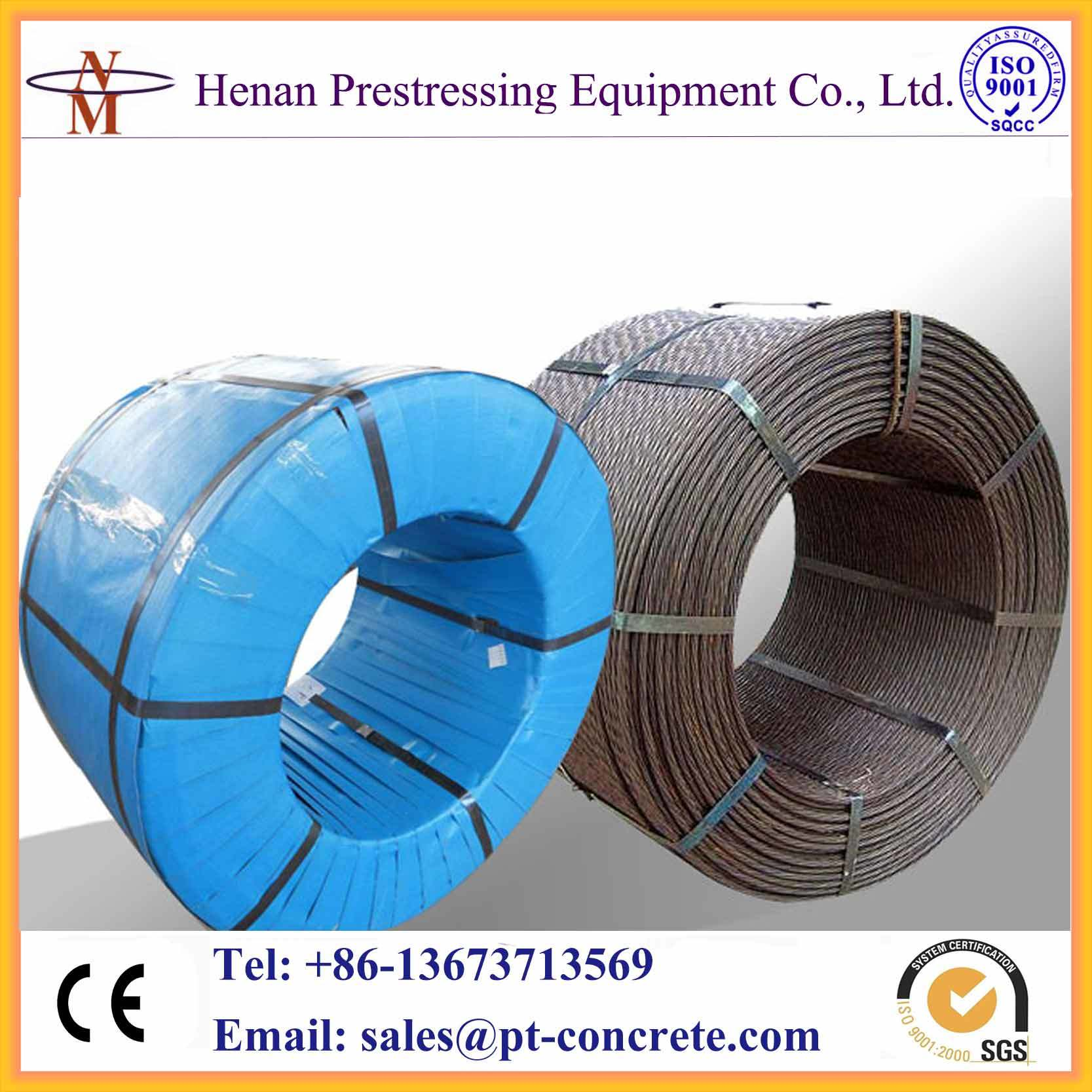 China Post-Tensioning System 12.7mm and 15.24mm Bonded Prestressed ...