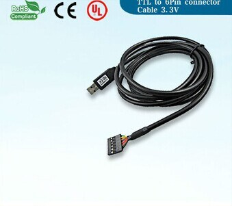 USB to Ttl Serial Cable (6 Way OEM FTDI TTL-232R-3.3/5V Cable)