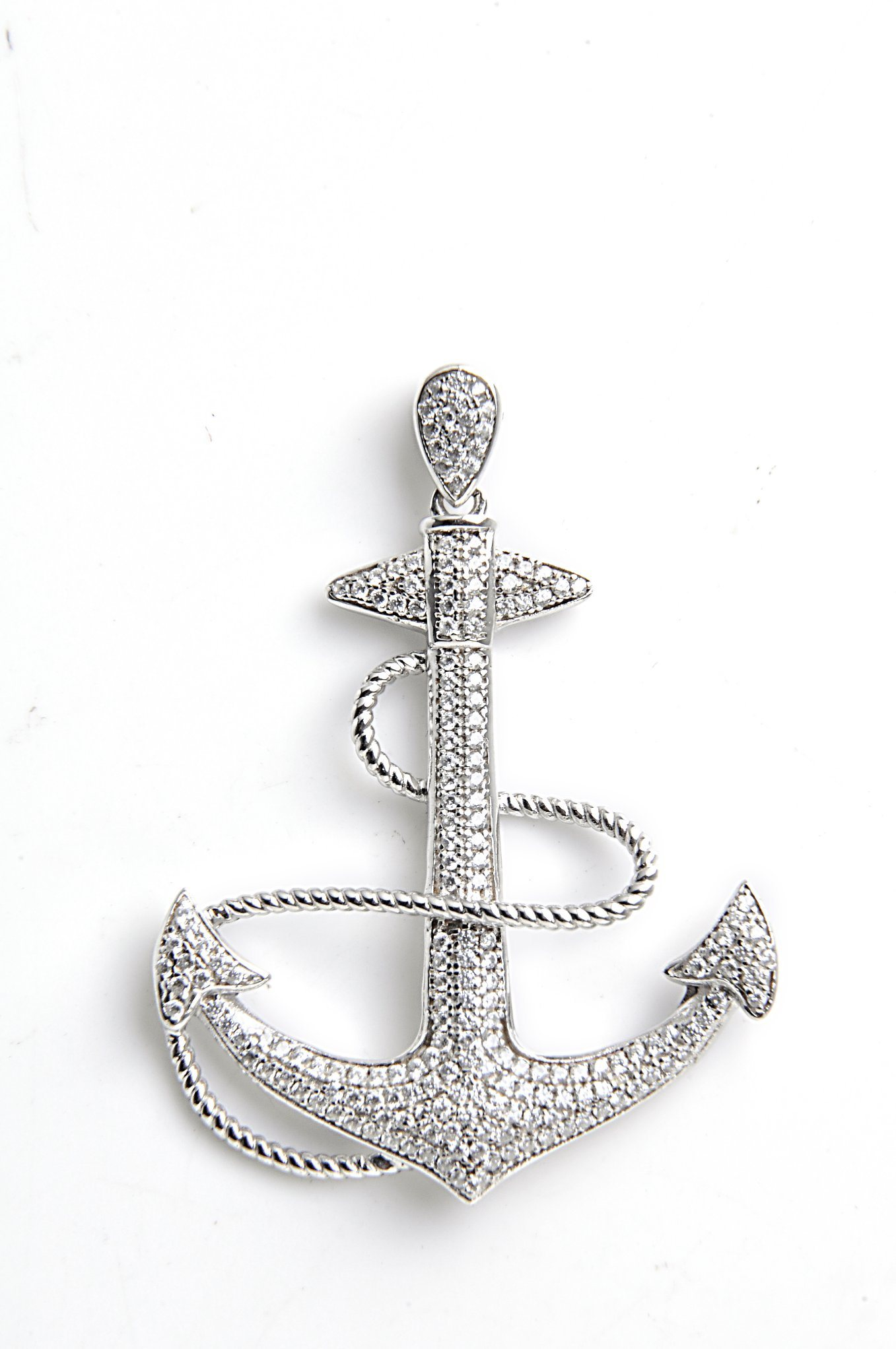 China hot sale fashion 925 silver anchor pendant set with cz china china hot sale fashion 925 silver anchor pendant set with cz china jewelry 925 silver jewelry aloadofball Images