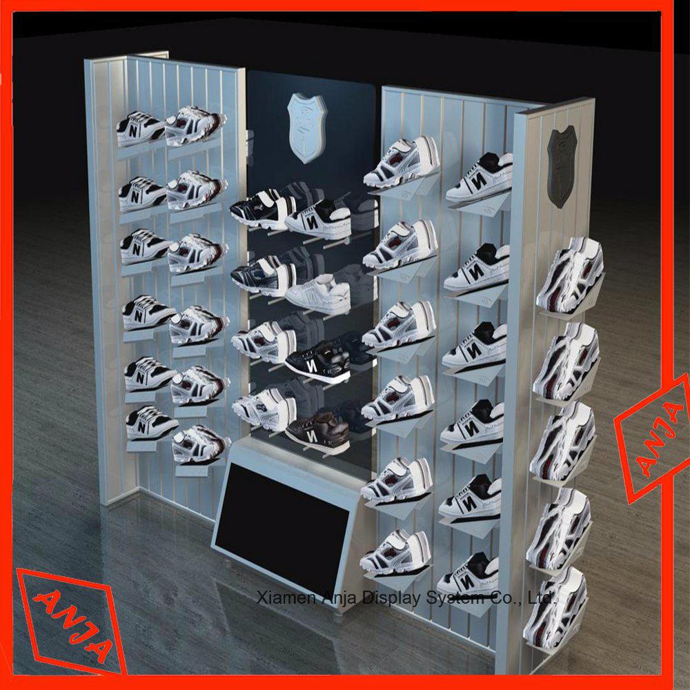 custom display furniture retail. Wooden Shoe Display Stand Retail Custom Rack Furniture