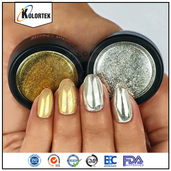 China Hot Sale Nail Mirror Effect Chrome Pigment Powder Magic Makeup ...