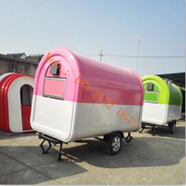 China Telescope Fryer Street Food Vendor Cart Fast Truck Trailer Mobile Hot Dog Factory For Sale Europe Coffee Kiosk Ice Cream Van