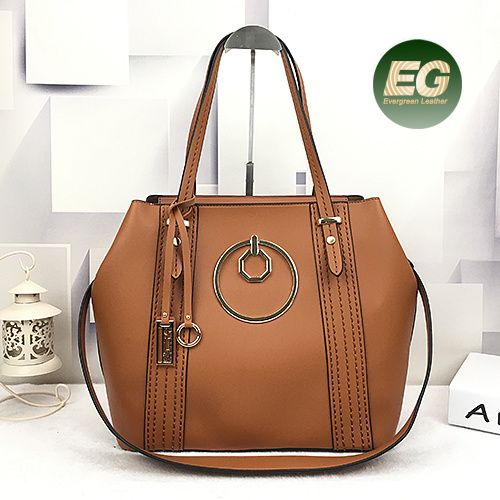 Professional Handbag Supplier Latest Style Pu Women Set 2pcs Tote Bag With Purse Inside Sy8488