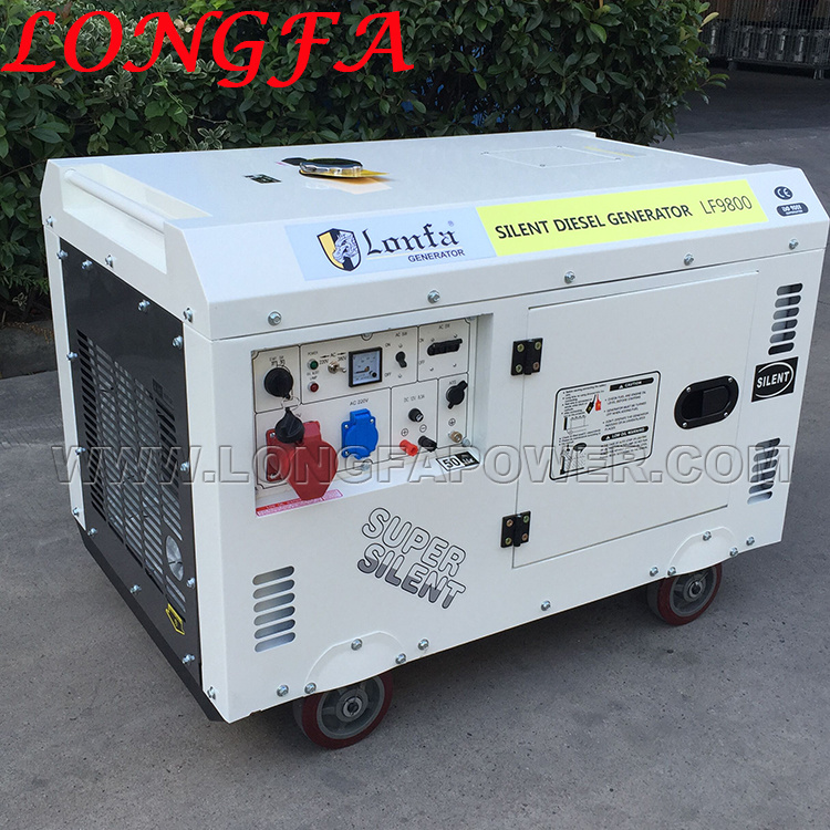 China 10kva 10kw Sel Generator Price Home Use Silent Type Air Cooled Deisel Generators Portable