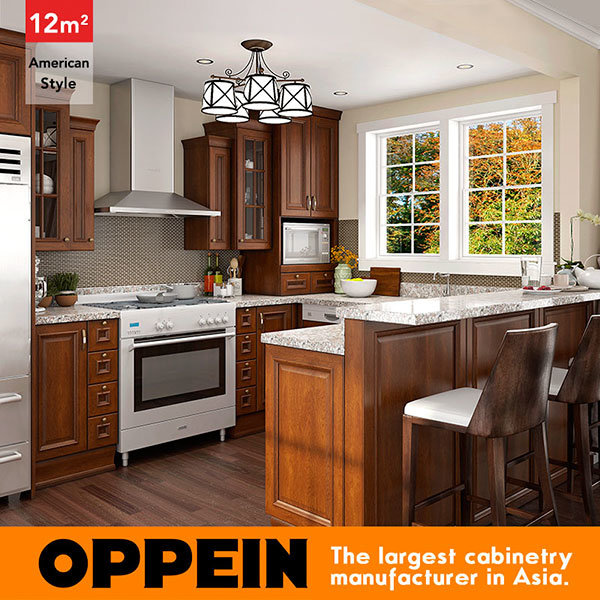 Hot Item 12 Square Meters U Shaped American Style Kitchen Design Op16 Pp03