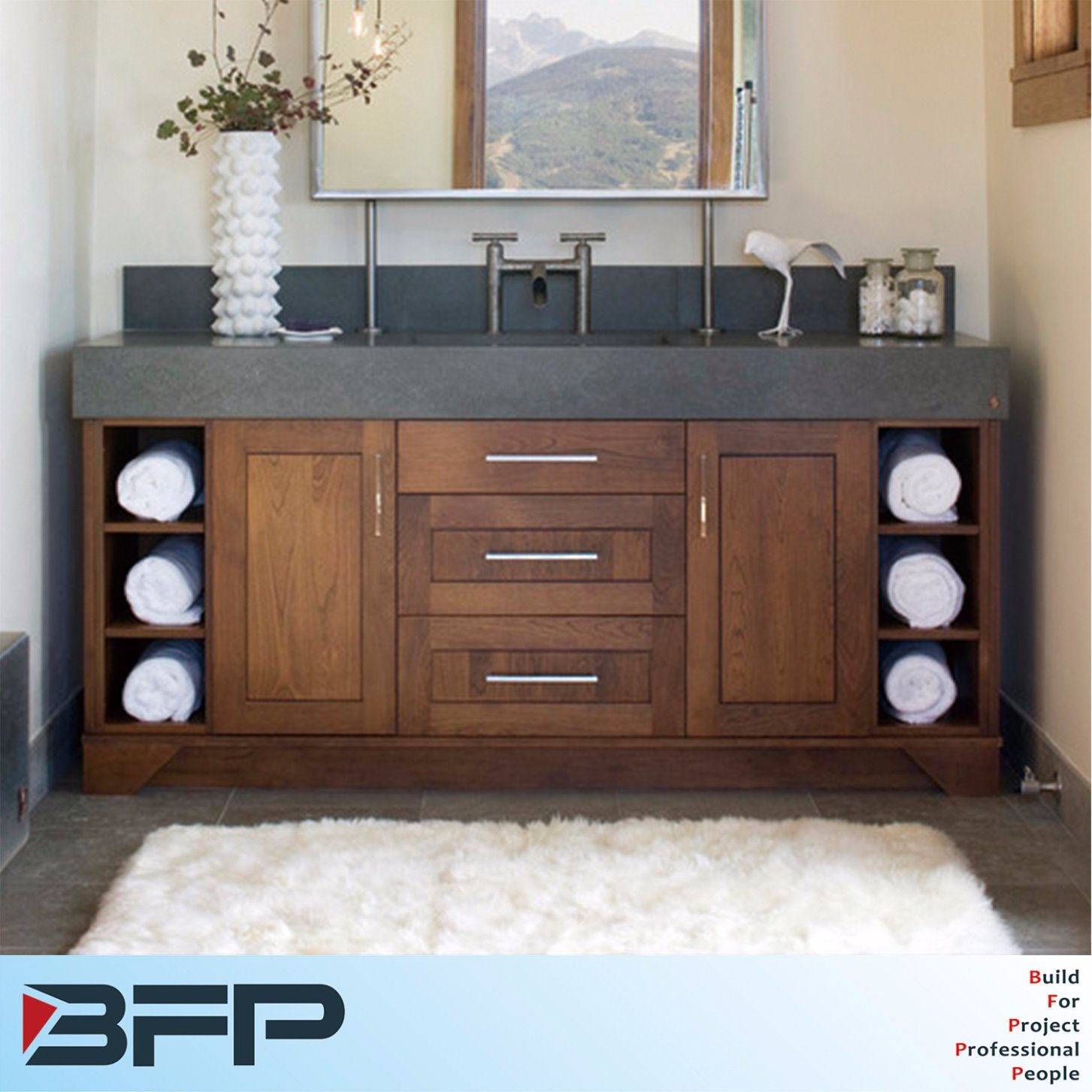 China Bathroom Vanity Cabinets With