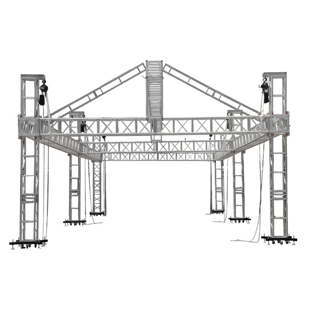 aluminium lighting stands trussing truss box clamps upright