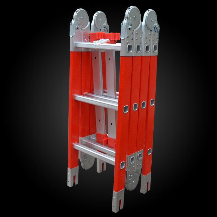 China Multi-Purpose Folding Fiberglass Joint Ladder 4.7m