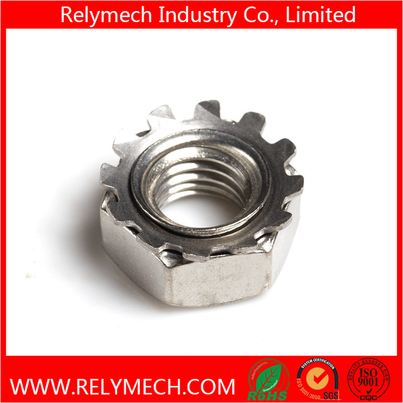 Stainless Steel Hex Kep Nut K-Lock Nut K Nut with External Tooth M4-M10